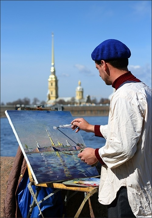 Художник пишет картину картинки
